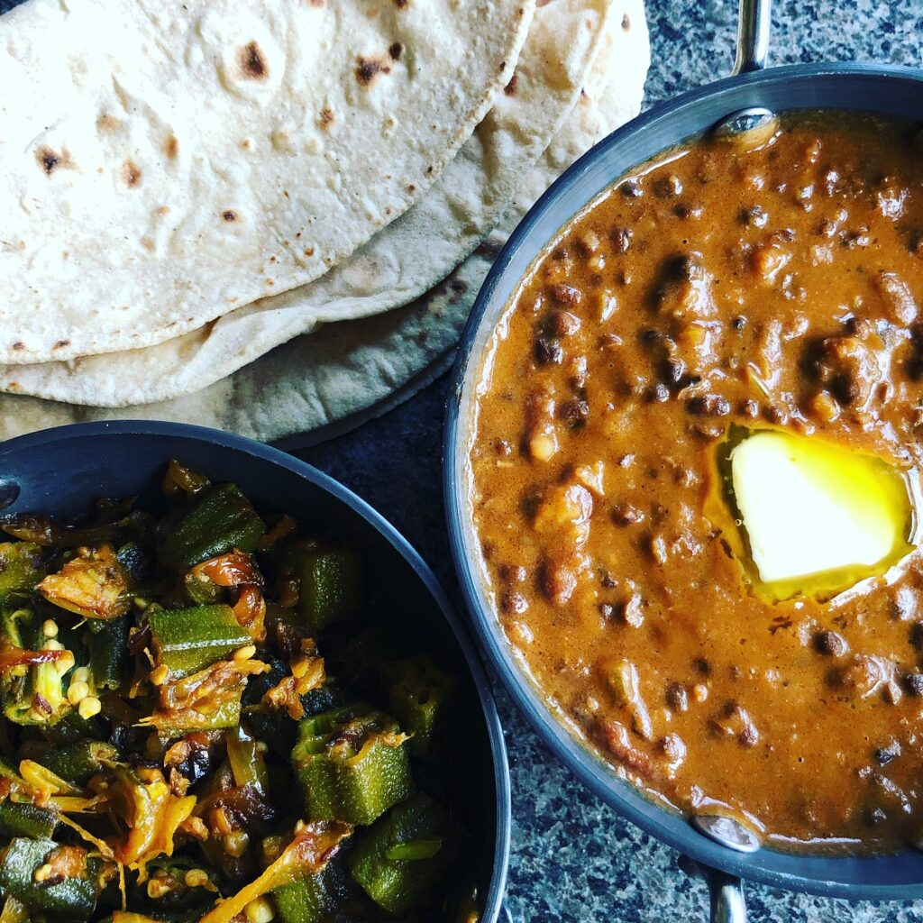 This image has an empty alt attribute; its file name is Dal-Makhani-and-Bhindi-Masala-1024x1024.jpg