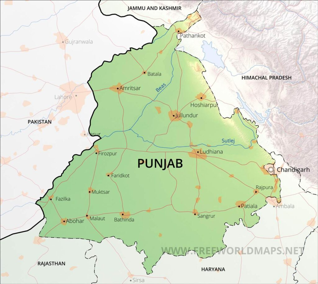 This image has an empty alt attribute; its file name is punjab-map-1024x913.jpg